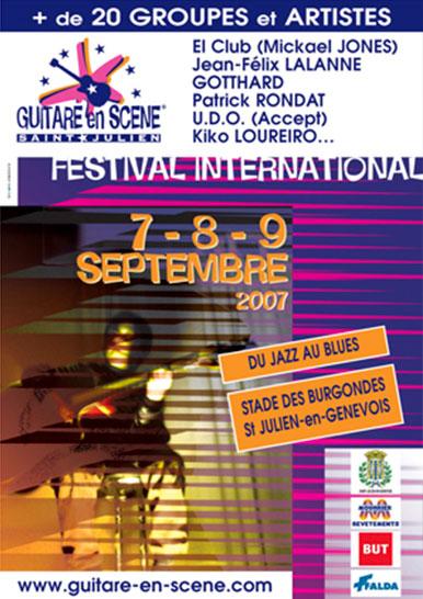 Affiche Guitare en Scène 2007