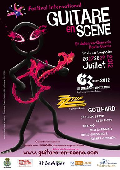 Affiche Guitare en Scène 2012