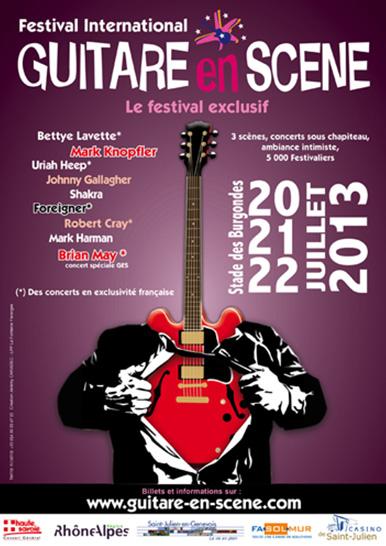 Affiche Guitare en Scène 2013