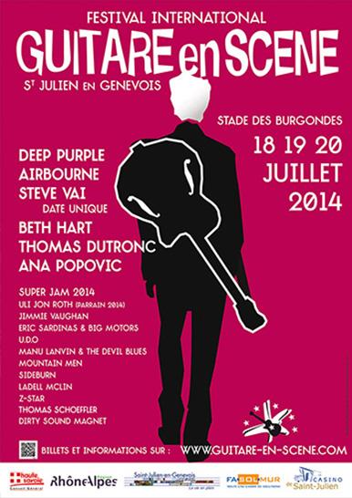 Affiche Guitare en Scène 2014