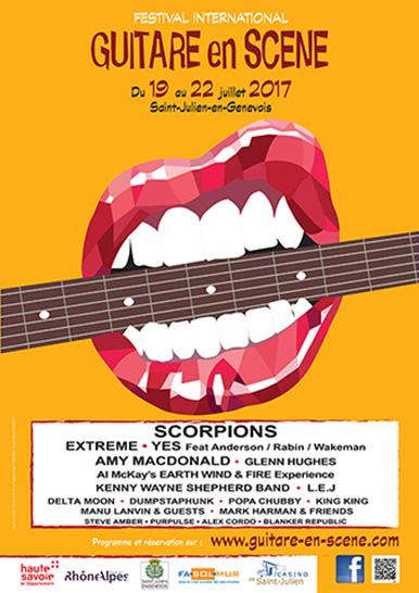 Affiche Guitare en Scène 2017