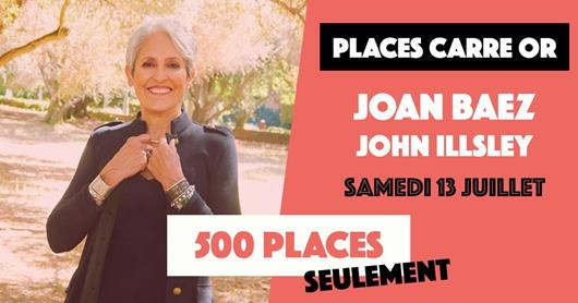 "NEWS : Places ""Carré OR"" pour JOAN BAEZ"