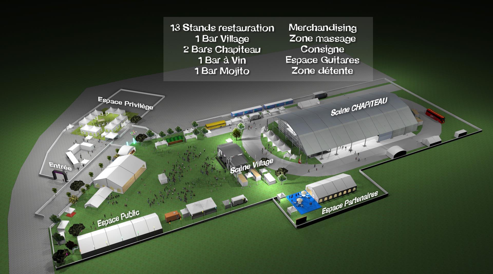 Plan du festival vue 1
